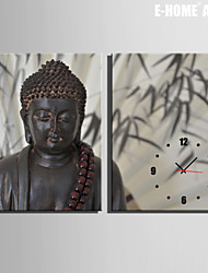 E-HOME® Buddha Clock in Canvas 2pcs