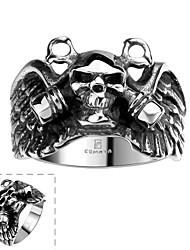 Ringe Totenkopfform Halloween Alltag Normal Sport Schmuck Edelstahl Herren Ring 1 Stück,8 9 11 Silber