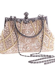 L.WEST®  Women's Pearl Diamonds Beaded Delicate Evening Bag