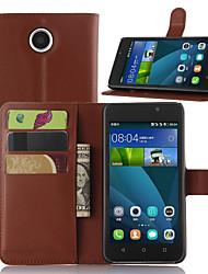 lichia em torno de suporte aberto telefone de couro carteira cartão apropriado para Huawei y635 (cores sortidas)