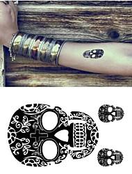 10 Pcs Small Skull Pattern Temp Tattoo Stickers