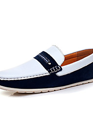 Men's Shoes Casual Leather Loafers Brown / Yellow / Navy