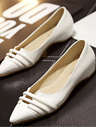 Women's Shoes Flat Heel Pointed Toe Flats Casual Brown/White