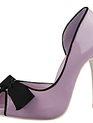 Shallow mouth hollow fish head bow high-heeled dance shoes/Peep Toe Sandals Dress/Casual Black/Pink/Purple/Red/Gray