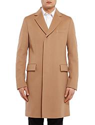 Men's Long Sleeve Long Trench coat , Cotton Pure