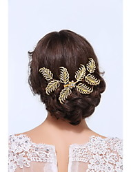 Women's Gold / Alloy Headpiece-Wedding / Special Occasion / Casual Hair Clip 1 Piece Clear