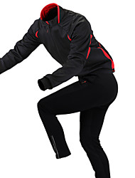 GETMOVING Cycling Jacket with Pants Unisex Long Sleeve Bike Fleece Jackets Jersey Clothing SuitsWaterproof Thermal / Warm Quick Dry