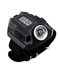 WEST BIKING® Flashlight Searchlight Portable USB Rechargeable Electronic Watch Outdoor Power Emergency Lights