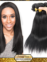 Brazilian Virgin Hair Straight 12 14 16 18 20 22 24 26 28 30 Inch 4pcs/lot 100g/pcs Rosa Hair 100% Human Hair