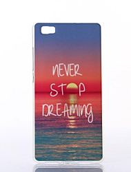 Charming Sunshine Pattern TPU Soft Case for Multiple Huawei P8/P8 Lite