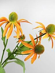 "28.3"" High Quality Artificial Flower Echinacea Purpurea for Home Living and Decoration 1pc/set"