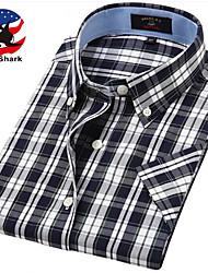 U&Shark Casual&Dress Men's 100% Fine Cotton Short Sleeve Shirt  by American Wahsing/DSX-003