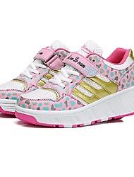 Scarpe Donna - Sneakers alla moda - Tempo libero / Casual - Comoda / Innovativo - Piatto - Tulle / Finta pelle - Blu / Rosa