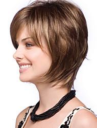 alta temperatura nova moda fashion senhora destaques marrons fio curto peruca de cabelo em linha reta pode ser muito quente pode ser