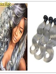 / Lot mejores extensiones de cabello 8a ombre calidad 1pc pelo virginal de la onda del cuerpo de dos colores de tono de cabello humano