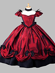 Steampunk®Wine Red Party Dress Halloween Costume Medieval Dress Gown Renaissance Faire Costume