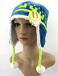 Chapéu Inspirado por Dramatical Murder Noiz Anime Acessórios de Cosplay Chapéu Azul Microfibra / Malha polar Masculino