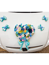 Artificial Flower Decoration Car Door (17*13cm)