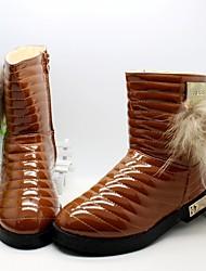 Botas ( Negro / Marrón / Rojo ) - Botas a la Moda - Cuero Patentado