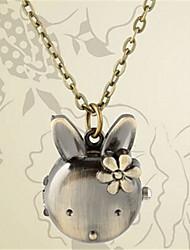 Woman Quartz Lovely Rabbit Pocket Watch Cool Watches Unique Watches