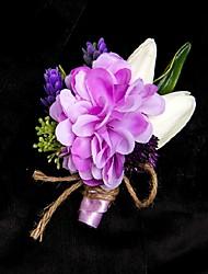 Boutonnières ( Pourpre , Satin / Satin élastique ) Roses