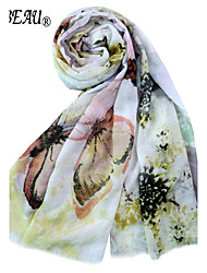 LABEAU Butterfly Nights Silk Wrap,Cotton Scarf
