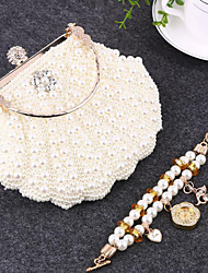 Actual Image Free Shipping Bridal Accessories Full pearls Bridal Hand Bags Party Prom Hand bags