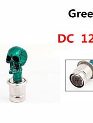 tono del coche del vehículo diseño de la cabeza del cráneo conector mechero 12v dc