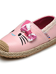 Baby Shoes Wedding/Outdoor/Dress/Casual Leather Loafers Black/Pink/Red