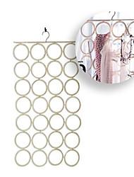 Komplement Multi Use Wardrobe Hanger Organiser White Belts Ties Scarves with 28 Slots