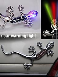 Car Stick Lamp Solar House Lizard Anti-collision Warning Lamp Car Flash LDE Decorative Lamp