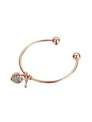 Women's Cuff Bracelet Alloy Cubic Zirconia