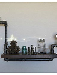 LOFT American Country Style DIY Book Shelves Iron Wall Shelf Bookcase Shelf Art Exhibition Shelf Water Pipe Shelves-Z18
