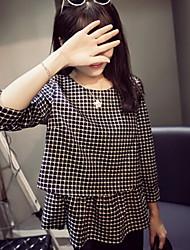 Vestido de maternidad Mini Plisado - Acrílico - Escote Redondo Manga Larga