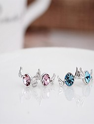 My orders korean tv drama fashion charms 925 sterling silver diamond crystal earrings,mercurial superfly earrings brand