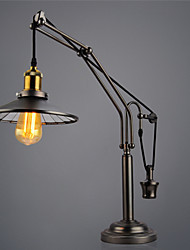 Vintage Industrial Plating Lift Pulley Table Lamps  Desk Lamp/ Arc Traditional/Classic Metal