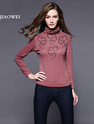 Women's Sexy/Casual/Cute/Party/Work/Plus Sizes Sequins Long Sleeve T shirt