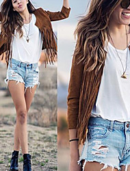 Women's Tassel Coats & Jackets , Vintage / Sexy / Bodycon / Casual / Party Cape VICONE