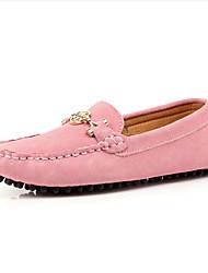 Women's Shoes Suede Flat Heel Comfort/Ballerina/Round Toe Flats Outdoor/Casual Black/Yellow/Pink