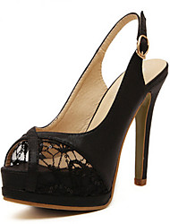 Women's Shoes   Stiletto Heel Peep Toe Sandals Casual Black / Gold