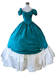 Steampunk®Green Civil War Southern Belle Ball Gown Dress Victorian Dress Halloween Party Dress