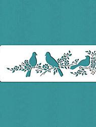 regalo de los pájaros del amor de la torta plantilla lado de san valentín, st-295