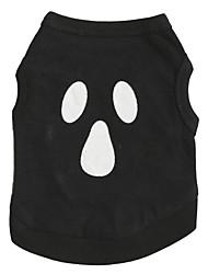 Gatos / Perros Camiseta Negro Verano Flores / Botánica / Vampiros Halloween / Moda-Other, Dog Clothes / Dog Clothing