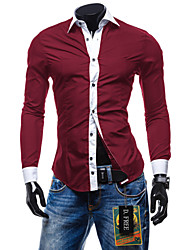 Informeel Shirt Kraag - MEN - Vrijetijds shirts ( Katoen / Katoenmengeling )met Lange Mouw
