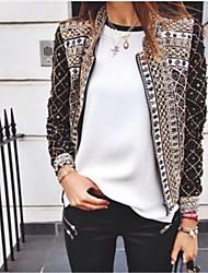 JAIJAI     Women's Print Multi-color Coats & Jackets , Casual / Print / Work Square Long Sleeve