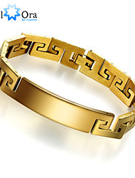 New 18k Gold Plated Bracelet For Men Jewelry Titanium steel Thick Rock Chain link Bracelet Men