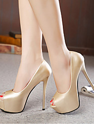 Women's Spring / Summer / Fall Heels Synthetic Wedding / Dress / Casual / Party & Evening Stiletto Heel Black / Silver / Gold