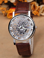 Men's double hollow out a mechanical watch