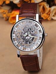 Heren Modieus horloge Kwarts Metaal Band Zwart / Bruin
