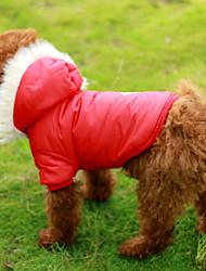 Cães Casacos Vermelho / Marrom Roupas para Cães Inverno Floco de Neve